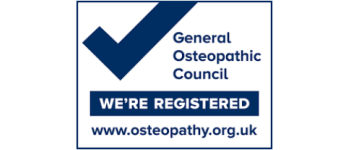 We're registered with the General Osteopathic Council